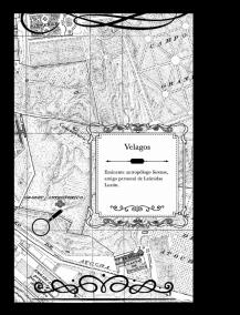Dramatis Personae con mapa de dónde viven los personajes