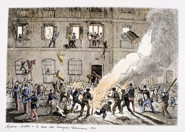 Asalto al palacio del marqués en 1854