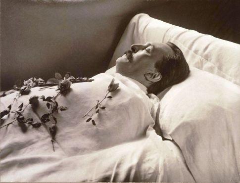 Gustave Dore sur son lit de mort
