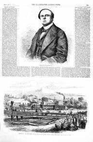 Artículo sobre la primera llegada del tren de NY en 1860