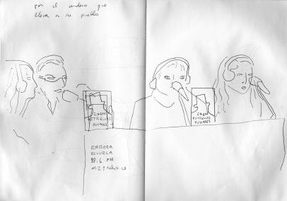 Dibujo al natural de Teresa Irisarri